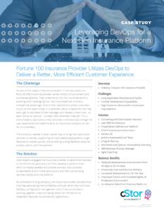 cStor Case Study: Optimize DevOps to Improve the Customer