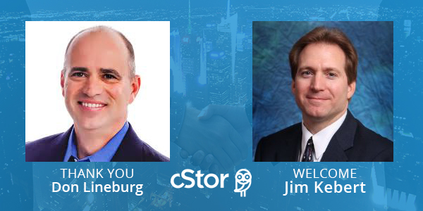 Jim Kebert joins cStor as CFO to replace Don Lineburg